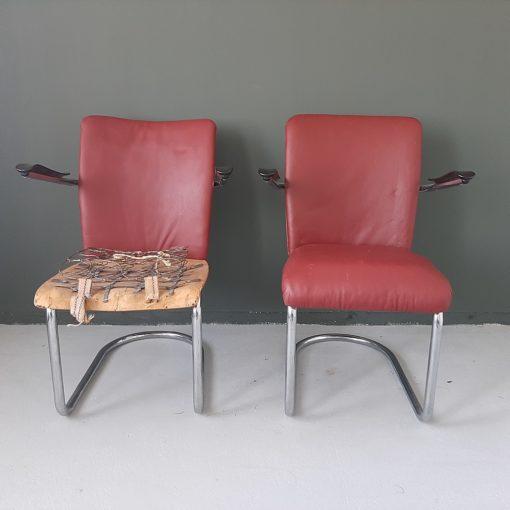 Gebr.de Wit buisframe loungechairs model 1018
