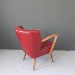 Vintage cocktail fauteuil met armleuningen