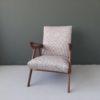 Deense fauteuil opnieuw gestoffeerd